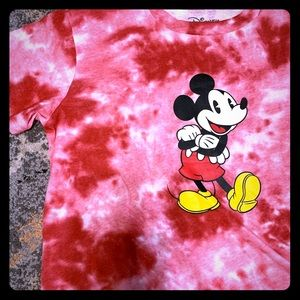 Disney Mickey Mouse crop top tie-dye style